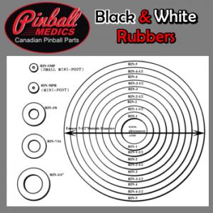 Black & White Rubber Rings all sizes