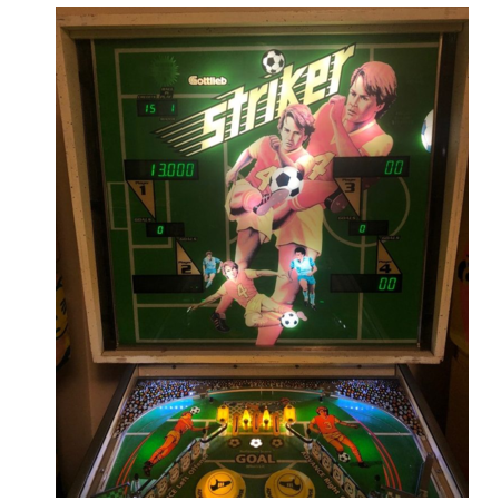 Gottlieb Striker Pinball Machine - Full LED, Pascal All-in-one, Very Rare &  Minty!